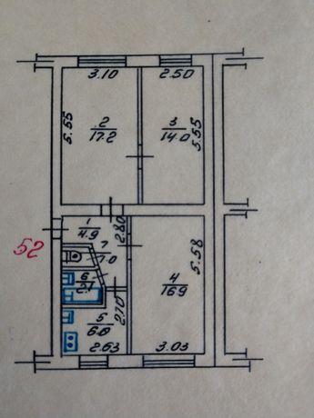 Продам 3-ох кімнатну квартиру під комерцію