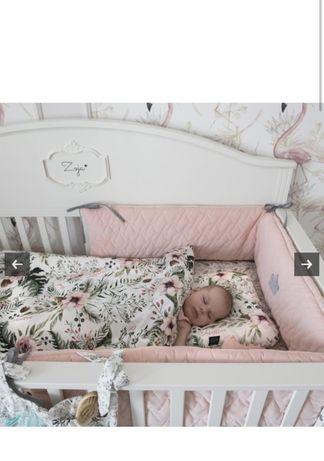 La Millou ochraniacz do łóżeczka velvet powder pink