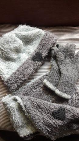 Czapka szal rękawiczki komplet Wójcik