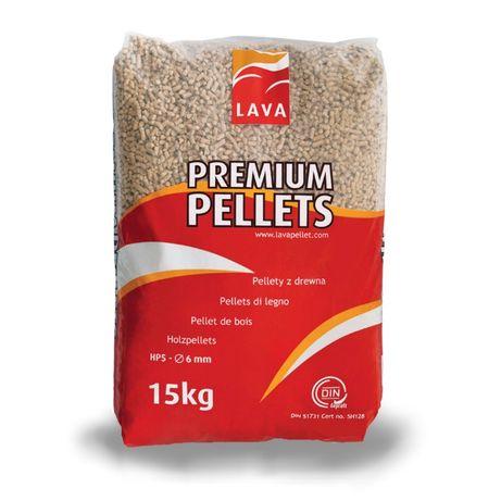 Pelet drzewny. Pellet Lava Premium . Kurier. Polska