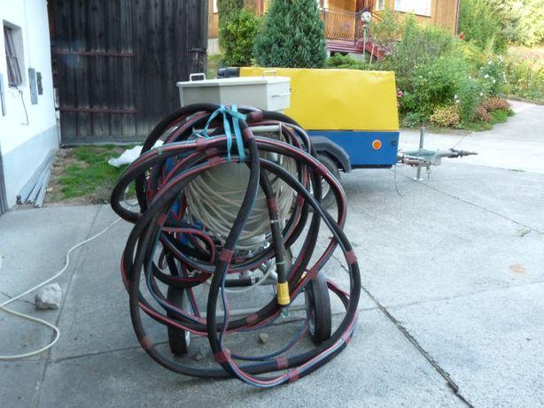 Piaskarka i kompresor śrubowy