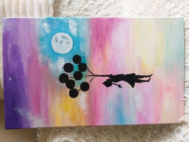 """Obraz """"Dziewczynka z balonami"""""""