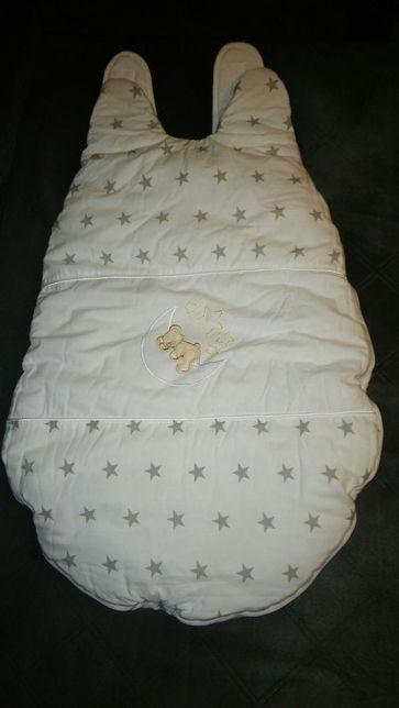 Nowy Śpiworek, ochraniacz i organizer do łóżeczka+rożek