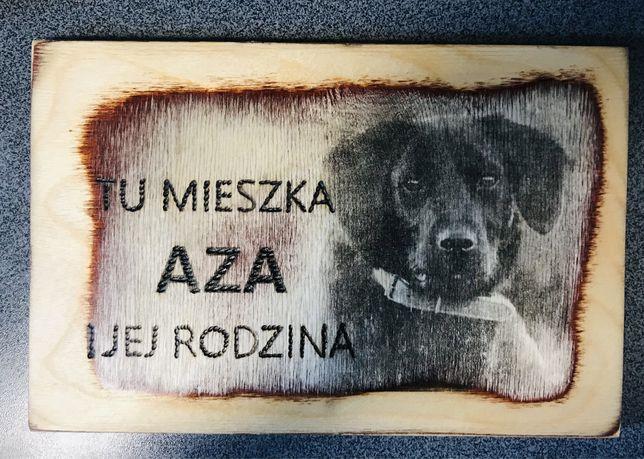tabliczka na płot i bramę dla psów i innych zwierząt