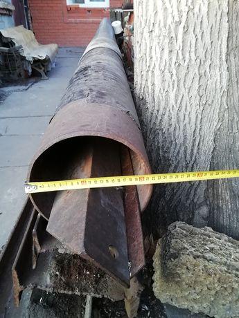 Труба железная 6.5 метров, диаметр 220 мм