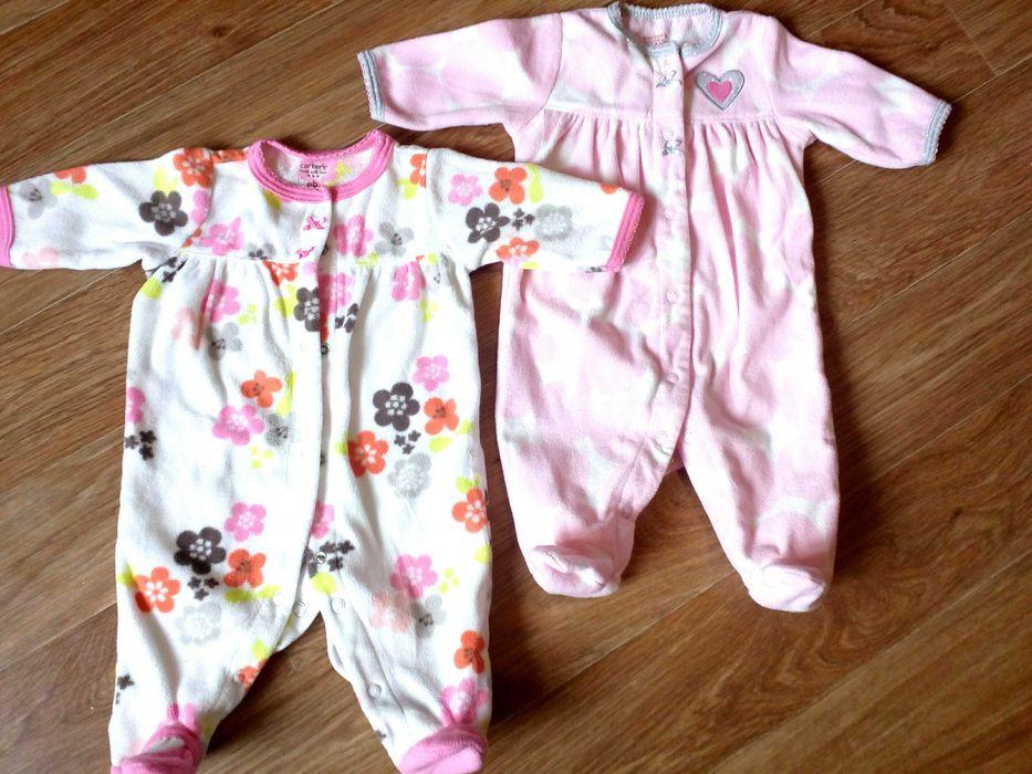 Человечки Carter's флис, размер nb девочка,цена за 2, новорожденная Херсон - изображение 1