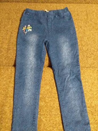 Дешево! Фактически новые джегинсы( джинсы) для девочки подростка!