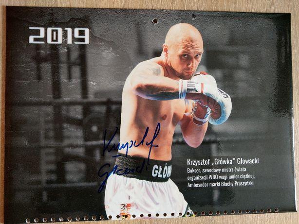Oryginalny autograf KRZYSZTOF GŁOWACKI,bokser,zawodowy Mistrz Świata