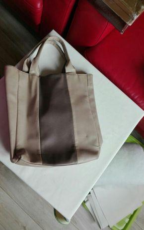 Beżowa torebka torba na zakupy