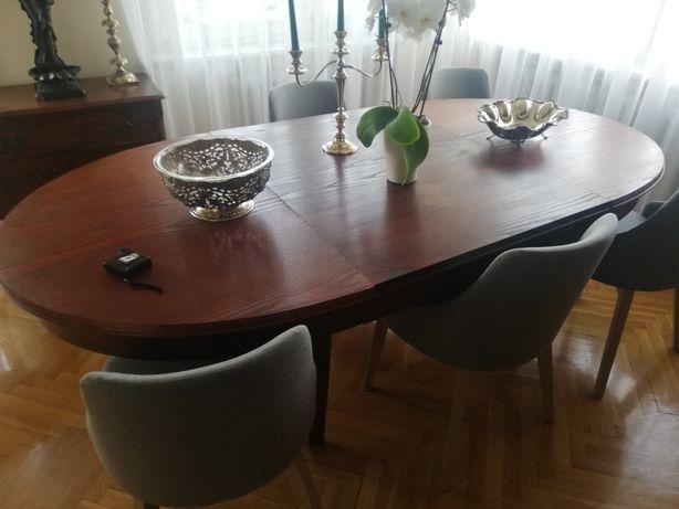 Stół dębowy stary, przedwojenny