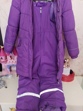 Пальто ленне и комбез рост 134