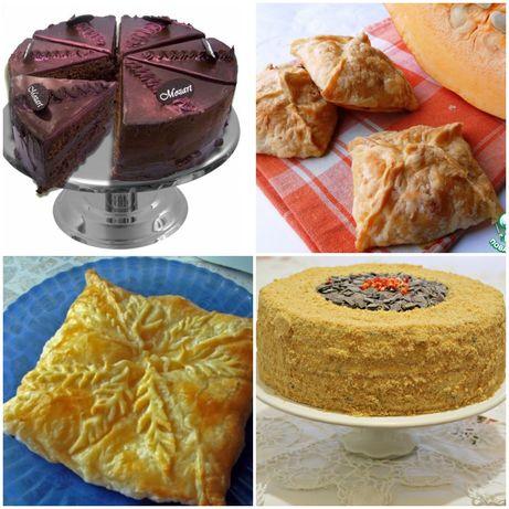 Изготовление тортов, пирогов, теста на заказ