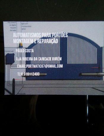 Montagem e manutenção de todo o tipo de automatismos para portoes .