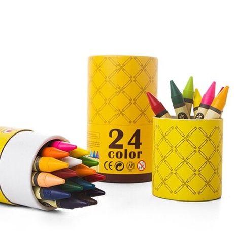 Набор восковых карандашей 24 шт