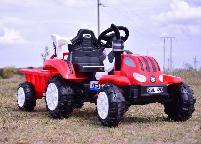 Traktor na akumulator z przyczepką, miękkie siedzenie! 2 Kolory!