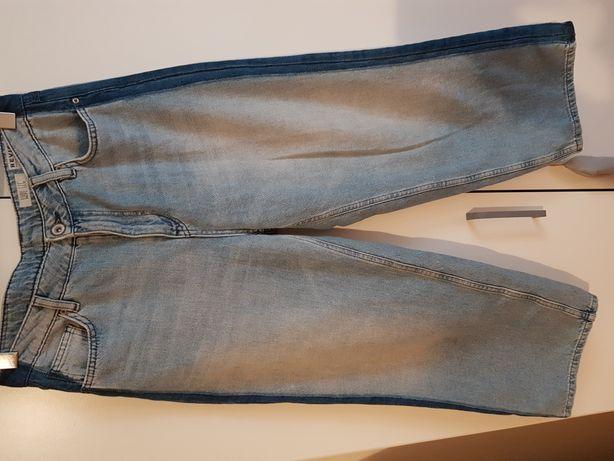 Review jeans spodnie z szerokimi nogawkami rozm. 29