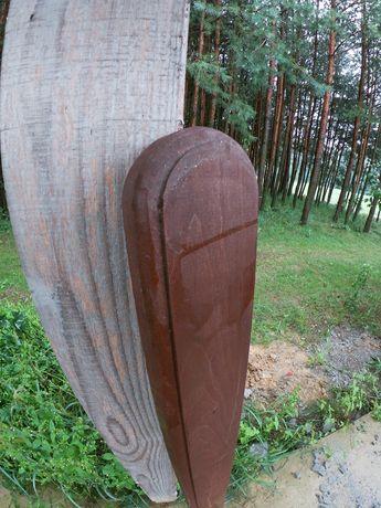 Sztachety drewniane olchowe malowane