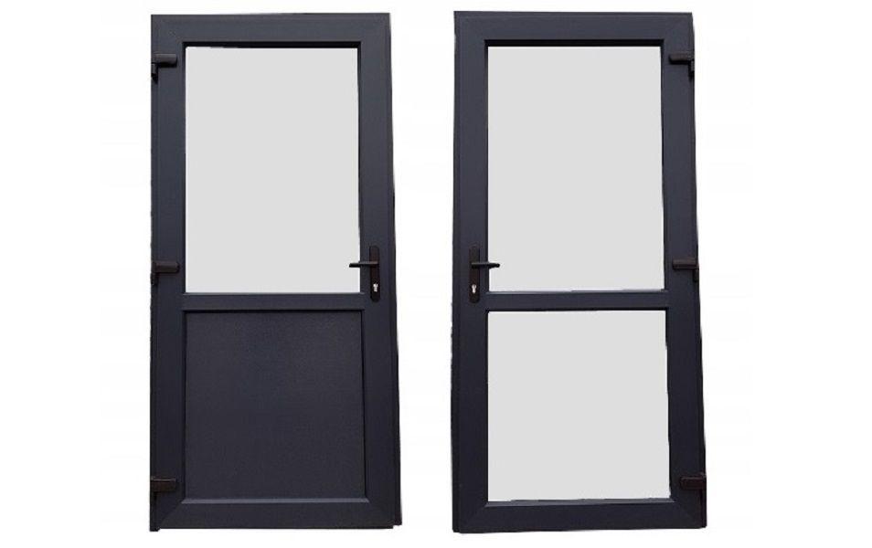 Drzwi zewnętrzne PCV 100x200 jak ALUMINIOWE antracyt OD RĘKI różne wym Brodnica - image 1