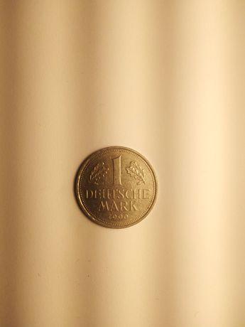"""Moneta 1 Marka 1990 r. RFN Niemcy Mennica """"D"""" Monachium."""