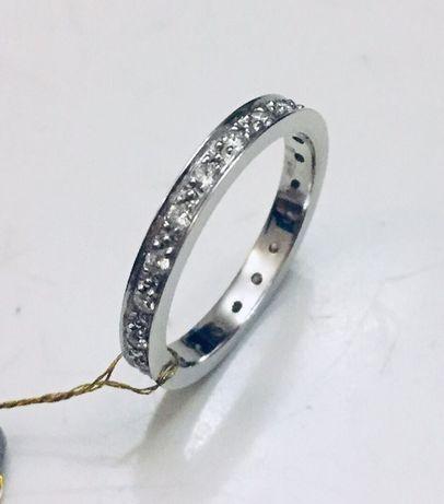 Золотое обручальное кольцо с Бриллиантами. 0.55 карат.