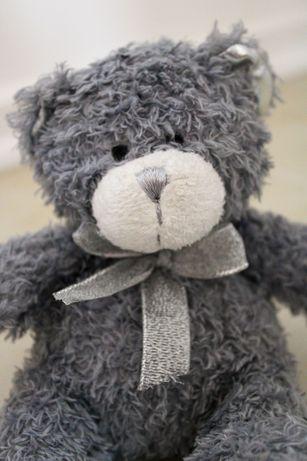Miś pluszowy misio misiek pluszak zabawka pluszowa niedźwiadek srebrny