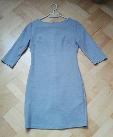 Sukienka zamszowa szara XS 34 Butik