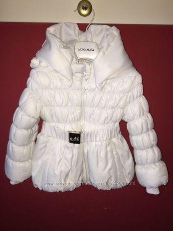 Тёплая нарядная куртка Monnalisa , Оригинал, размер 18-24 месяца.