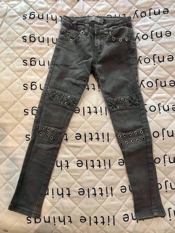 Spodnie, jeansy, szare, dziewczynka,