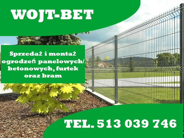 Montaż ogrodzeń panelowych ,betonowych.pomiar wycena gratis