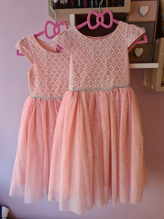 Sukienka księżniczka zara tiulowa różowa bliźniaczki cool Club r. 110 Łódź - image 1