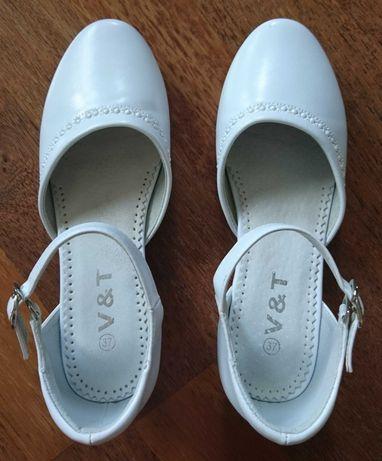 Buty KOMUNIJNE (i nie tylko) dla dziewczynki rozmiar 37 (23,5 cm)