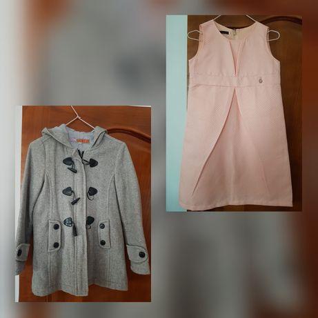Casaco fazenda e vestido rosa