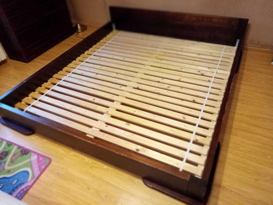 Komplet mebli drewnianych: łóżko, komoda i nakastliki, materac gratis Jaworzno - image 1