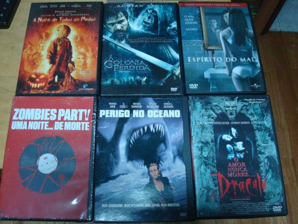 lote 6 dvds terror originais