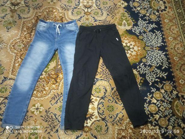 4 szt spodni + bluza -Spodnie chłopięce roz.140