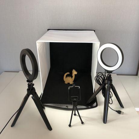 Фотобокс, лайтбокс, студийный свет, софтбокс 30х30 см. Новый