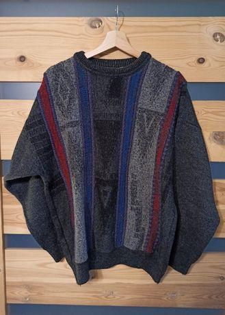 Akessandro Magno sweter wełniany vintage retro