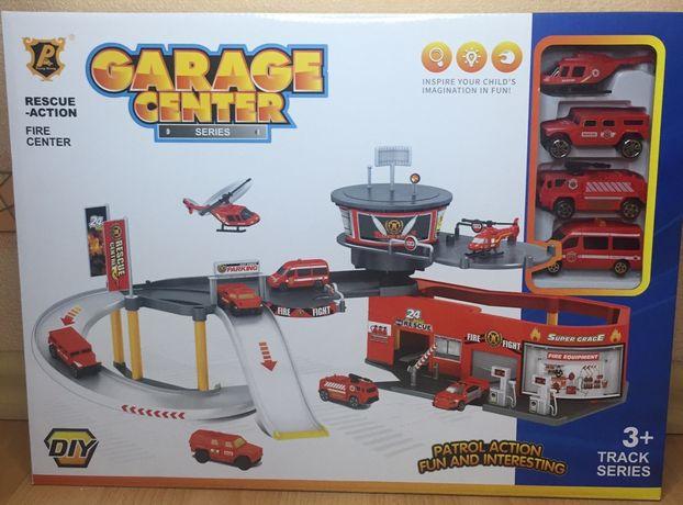 Гараж пожарная станция, 2 этажа, 4 машинки, в коробке
