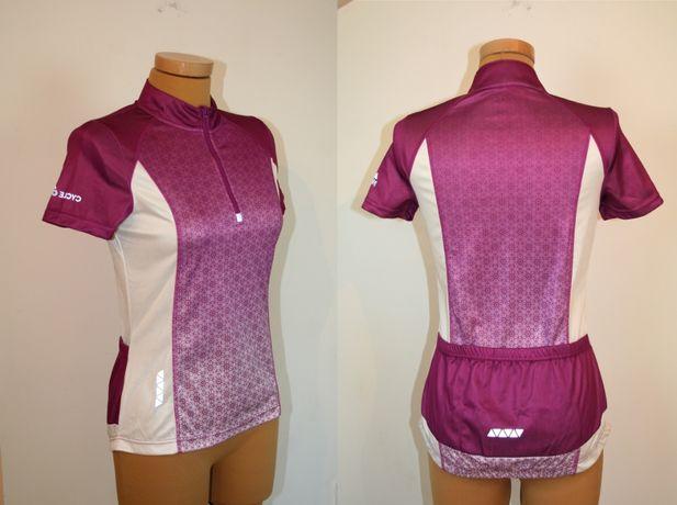 Damska bluza rowerową CRIVIT z krótkim rękawem Różowa S