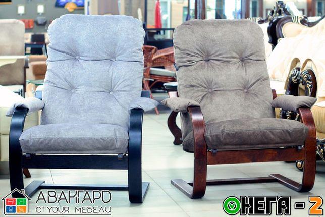 """Велюровое пружинящее кресло для отдыха в спальню / гостиную """"Онега-2"""""""