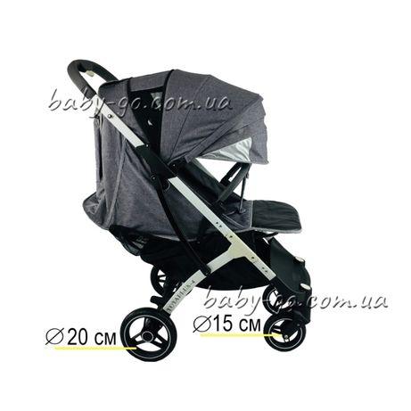 Yoya plus-4-2021.pro.2020.3.йойа плюс.детская прогулочная коляска сера