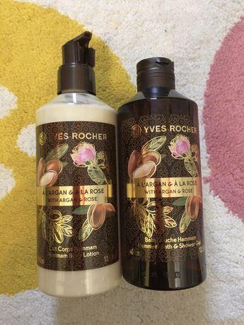 Yves Rocher набор - гель для душа, лосьйон для тела