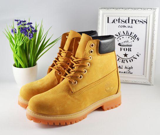 Женские ботинки Timberland Classic Yellow Тимберленд желтые