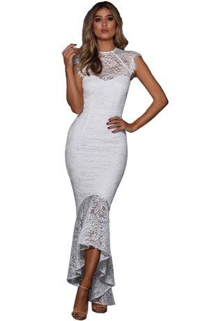 suknia ślubna koronka wesele cywilny L 40, XL 42