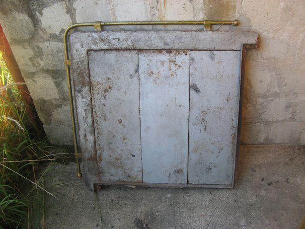 Stara płyta żeliwna pieca 80 x 80 cm