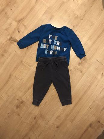 Zestaw spodnie bluza niemowlak roz 86
