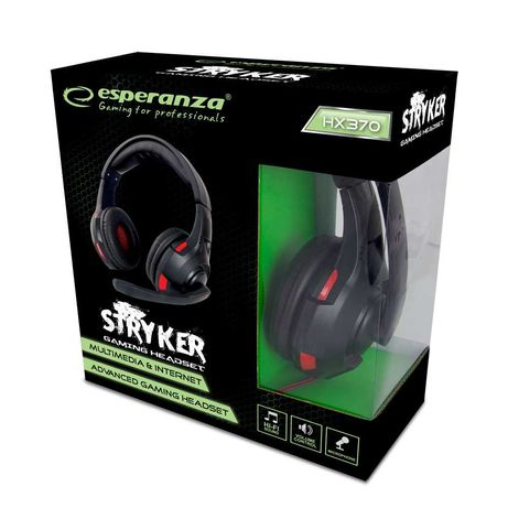 Esperanza słuchawki Stryker dla gracza gamingowe