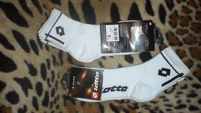 Комплект новых качественных спортивных носок Lotto р.35-37 Италия