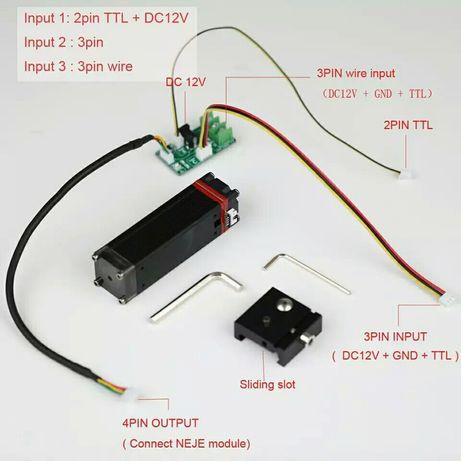 Лазерный модуль 30 ват фанера 4 мм два прохода