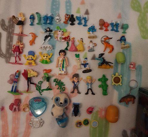 Dużo zabawek drobiazgów + puszka-pudełko (MLP, Barbie, Disney)